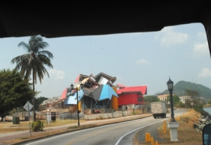 The new Bridge of LIfe Museum in Panama City nearing completion.  The museum, designed by Frank Gehry, is scheduled to open in July 2012