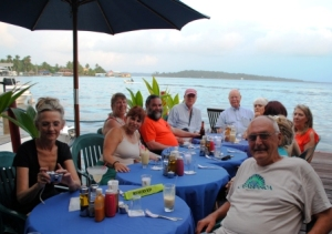 Dinner over the water at Bocas del Toro Hotel - featured in a recent 12-page spread in CONDE NASTE TRAVELER