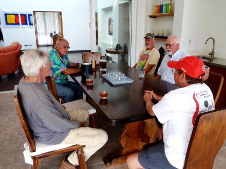 "Never mind what the ""experts"" say, this is the meeting of the true experts at Werner's house in Lucero - Werner took the picture."