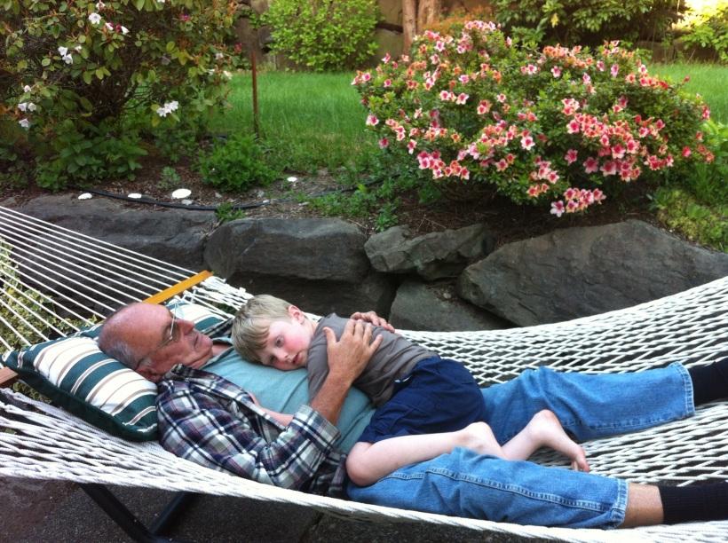 Grandpa D &Rian 050913