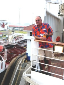 I do change my shirts!  This is just my traditional Panama Canal day shirt!  It's more fun if there is another ship in the locks next to you.