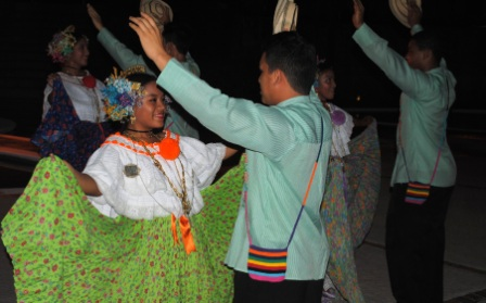 The folkloric show at the Sheraton Bijao