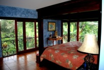 I wanted the Master Bedroom to feel as much like sleeping out in the jungle as possible