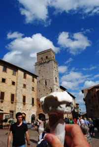Gelato in San Gimignano:  It Just Doesn't Get Any Better